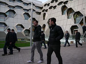 Prospective student exploring the Campus on an open day