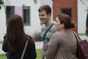 University of Chichester prospective students at an open day
