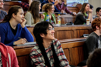 Students in their lecture