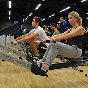 University students using sports facilities