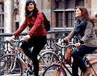 Students cycling