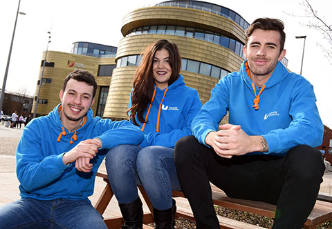 Student ambassadors at Teesside University's open day