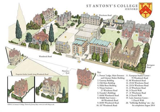 St Antony's map