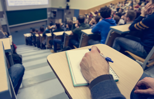 student in lecture