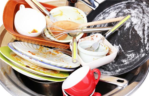 pile of washing up