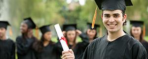 Happy student on graduation day
