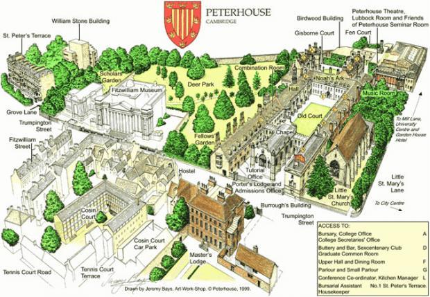 peterhouse map