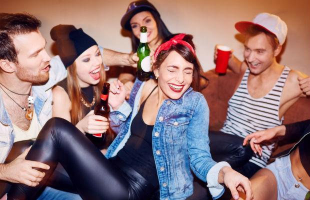 Partying freshers