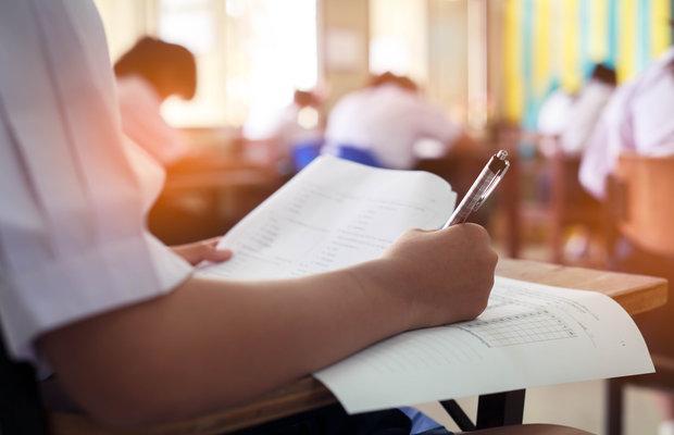 Student sitting exam