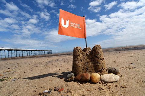 Sandcastle on nearby Saltburn beach