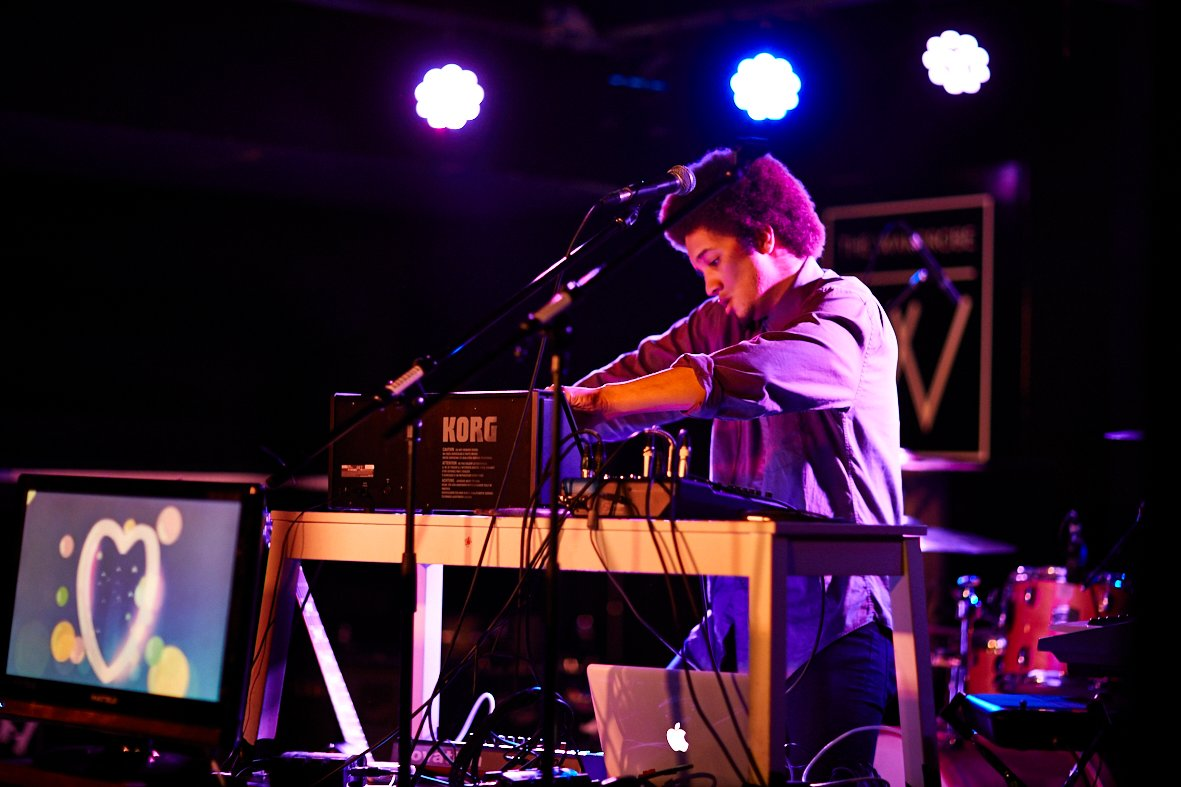 Production and Pop student Santino Browne performing at the Wardrobe, Leeds