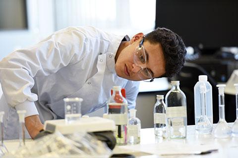 Teesside University lab student