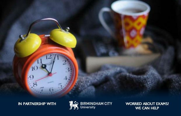 clock and mug
