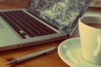 Laptop and tea