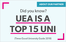 UEA is a top 15 uni