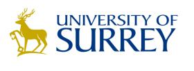 Uni of Surrey logo