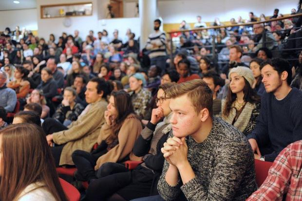 A packed SOAS lecture hall - a place where uncensored debate can and must take place