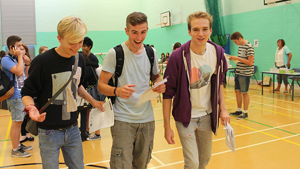 students with their results
