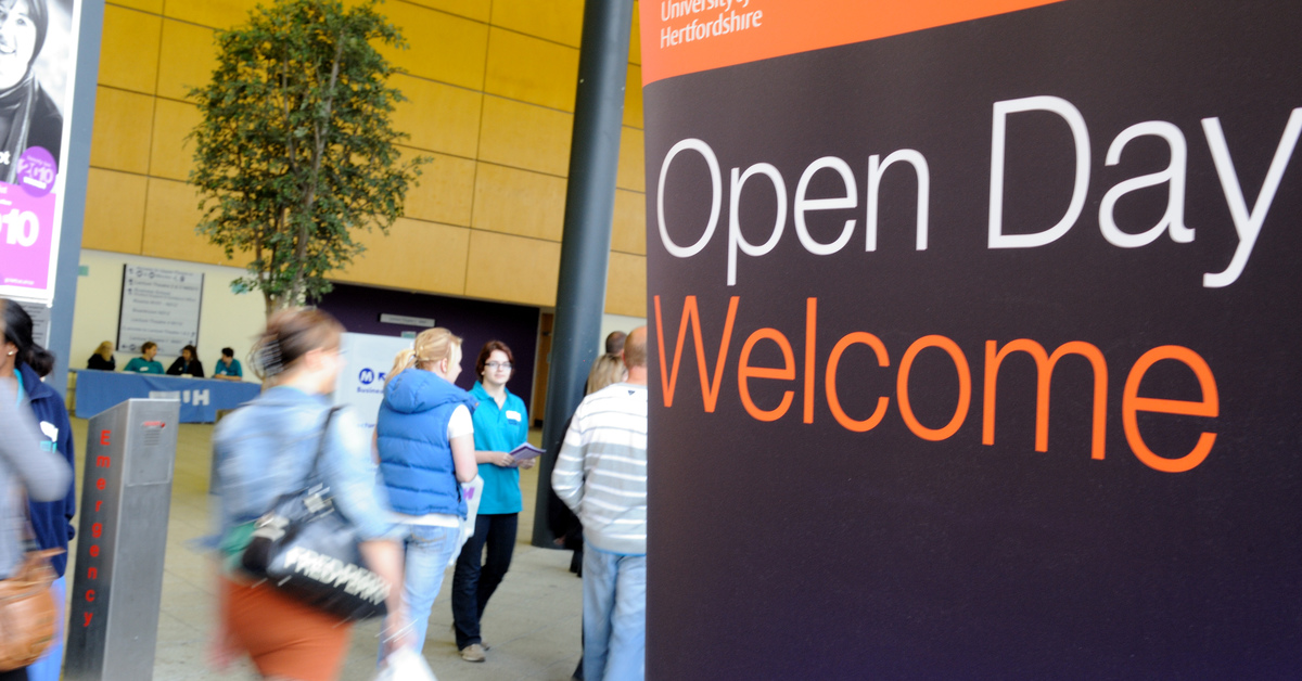 Open day welcome banner