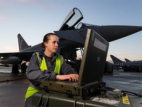 RAF engineer at work