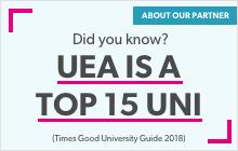 UEA is a top 15 uni