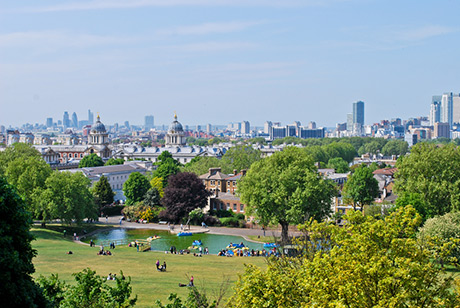 Landscape view of London