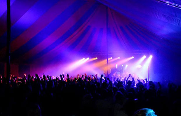 freshers event in a big top