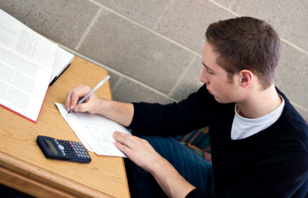 Student in exam