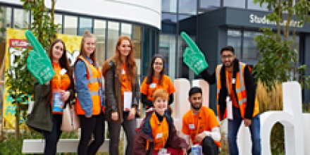 Open day students