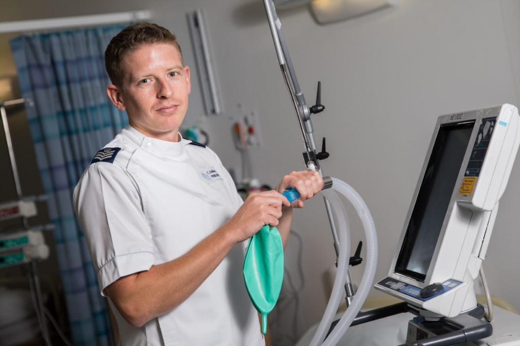 Flight Sergeant Andrews - RAF critical care nurse