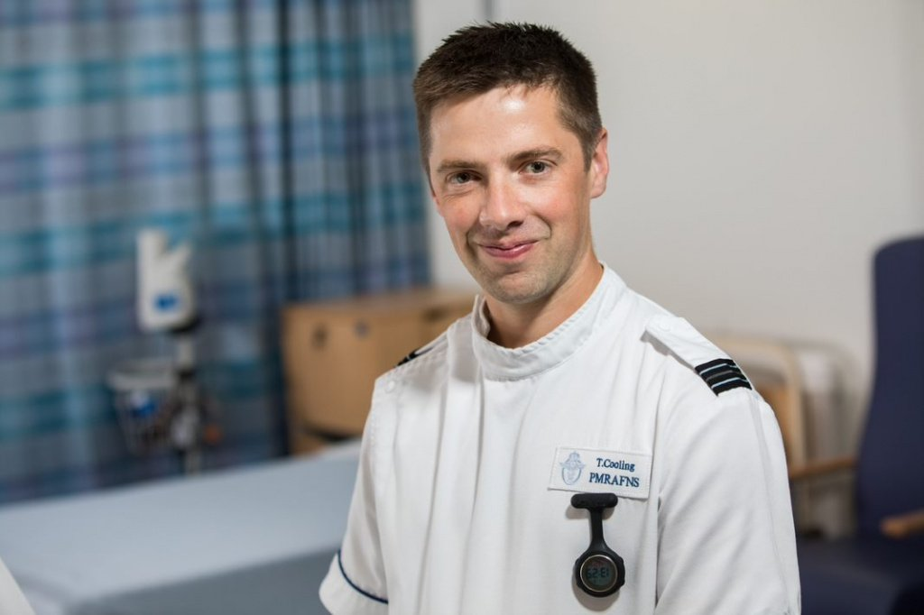Flight Lieutenant Cooling - military lead for the Medical Assessment Unit at Derriford Hospital