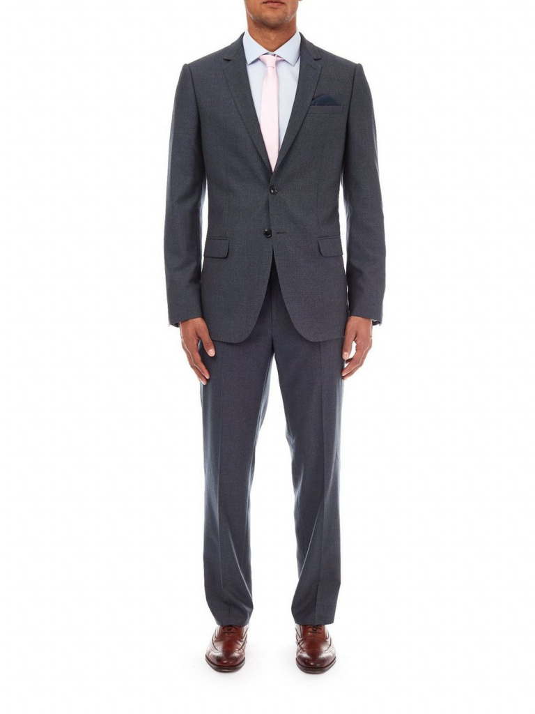Burton grey blue suit