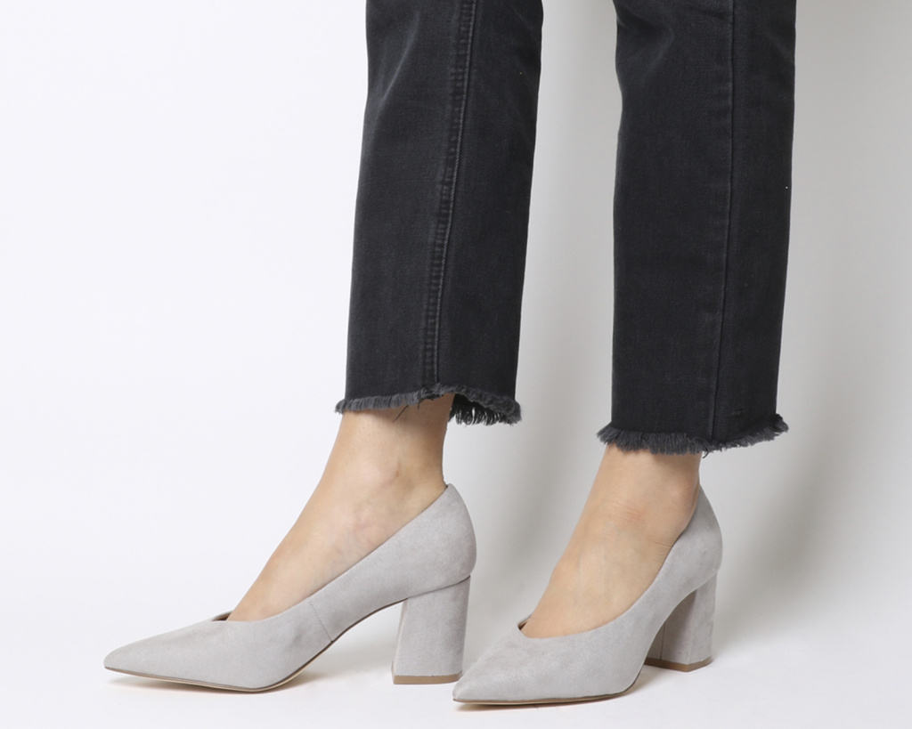 Office grey court heels
