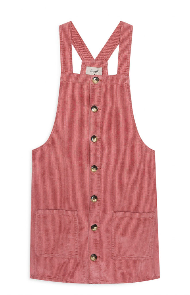 Primark pink corduroy dress