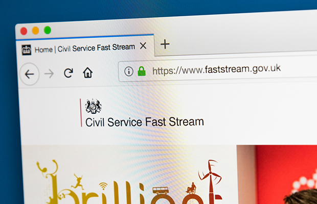 Image of civil service fast stream web page