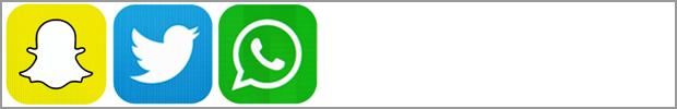 whatsapp twitter and whatsapp logos
