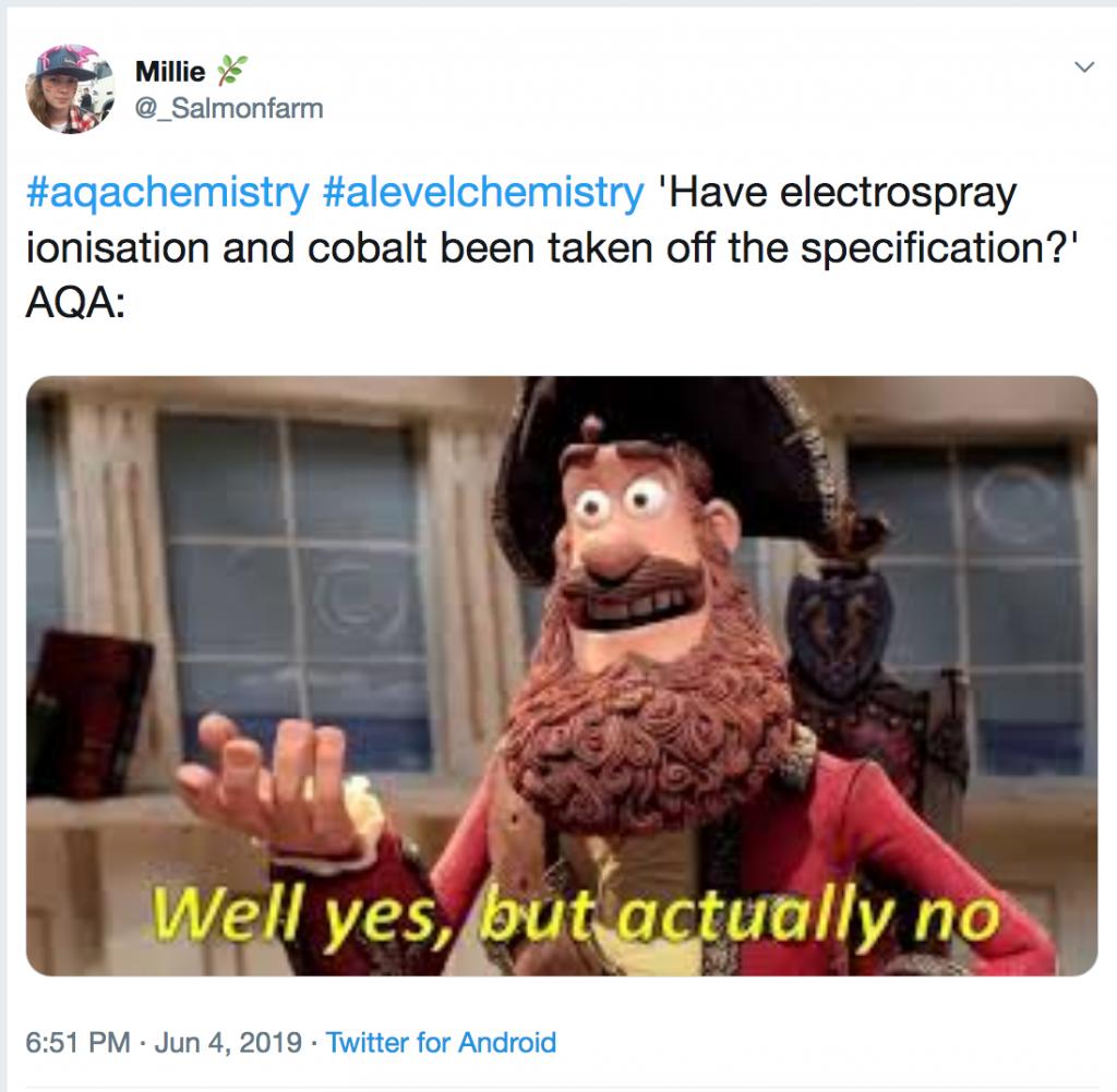 Electrospray and cobalt tweet