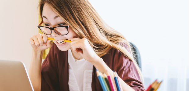 student feeling stressed