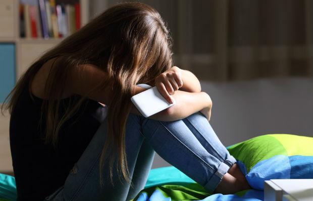 Student using phone