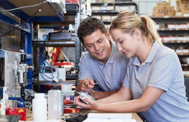 girl doing engineering apprenticeship