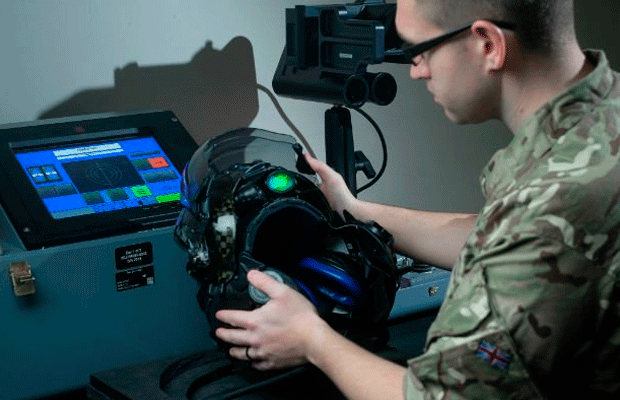 RAF staff member at work