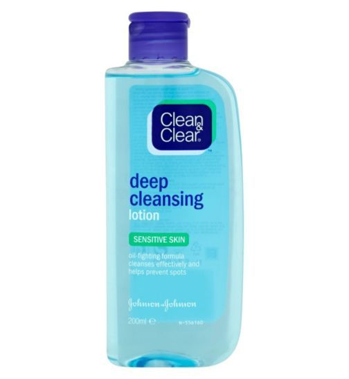 Clean and Clear Deep Cleansing Lotion for Sensitive Skin