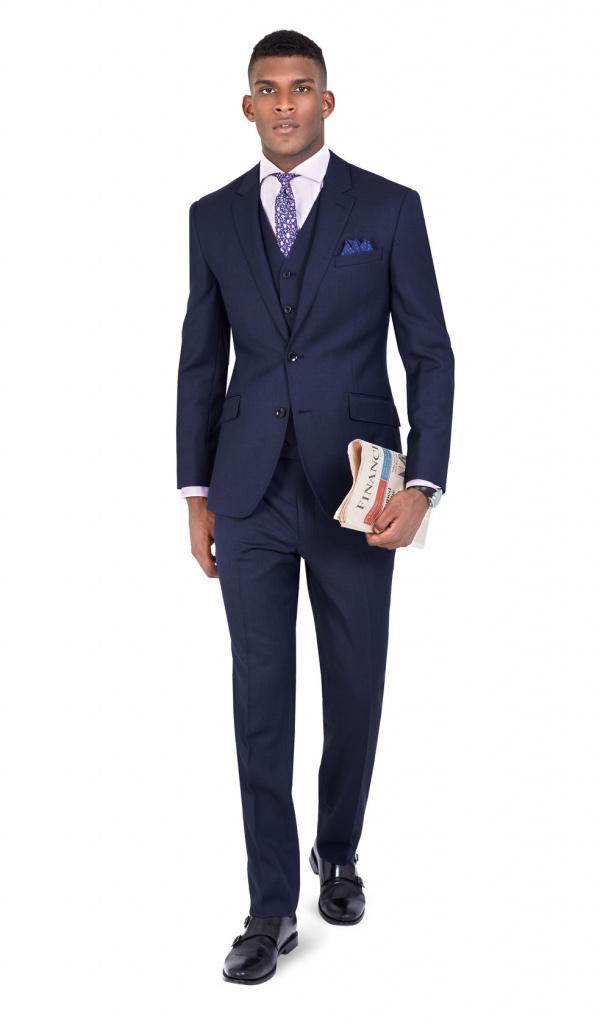 TM Lewin navy suit