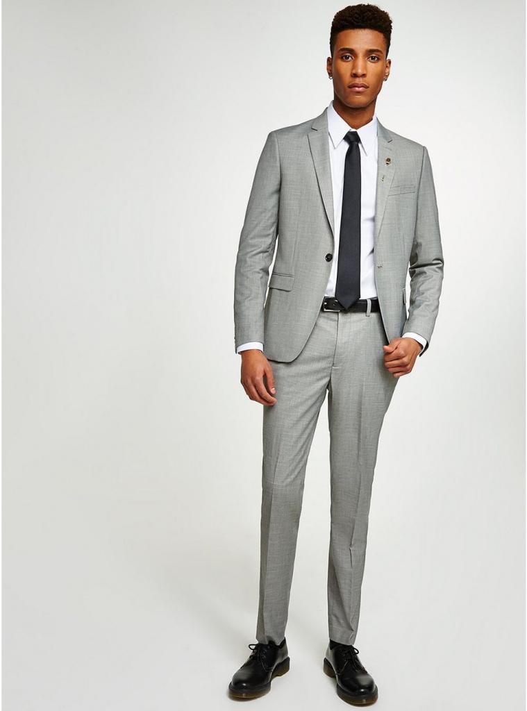 Topman grey skinny fit suit