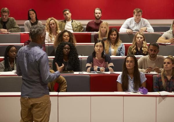 university students watching a lecture