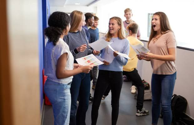 Students getting results