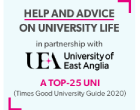 Help and advice on university life in partnership with UEA a top 15 uni