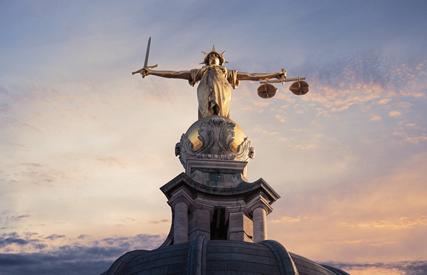 Justice statue atop Old Bailey