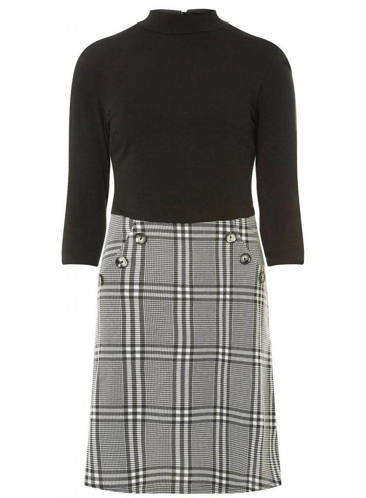 Dorothy Perkins black button dress