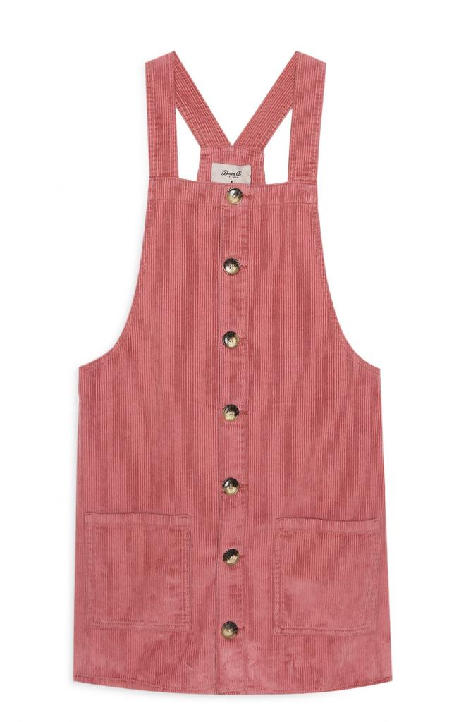 Primark pink corduroy dress